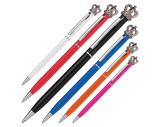 Kugelschreiber aus Metall mit Krone