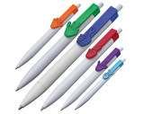 Kugelschreiber aus Kunststoff mit Clip Hände